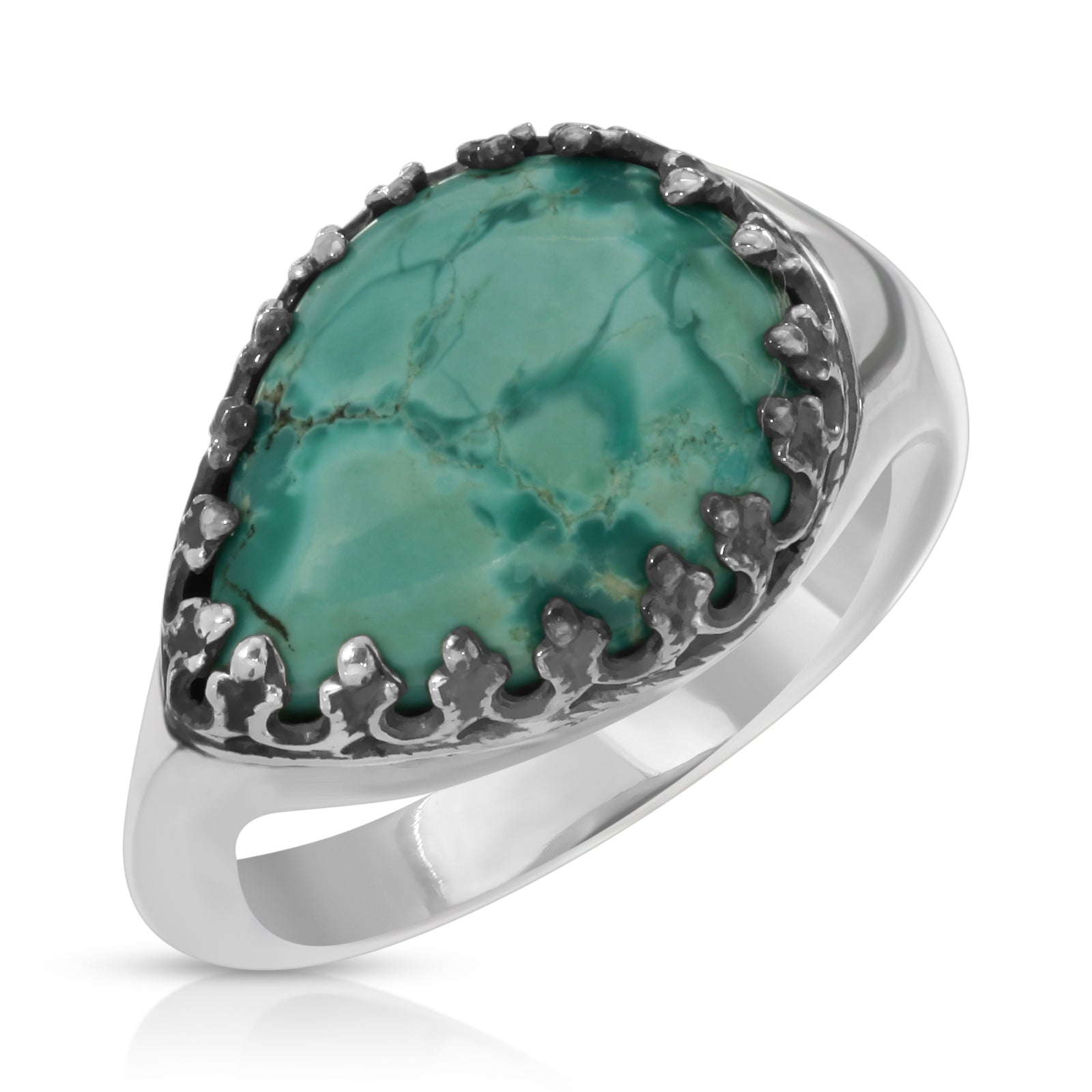 Teardrop Turquoise Ring - The W Brothers