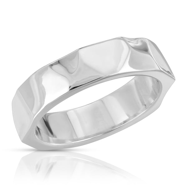 The W Brothers Quantum Ring in Premium Grade A 925 Sterling Silver for men and women accessory. Our ring is hand-detailed and crafted for a luxury, clean, modernistic, contemporary, statement ring. Our sterling silver contains all the health benefits that can boost immune system & kill bacteria.