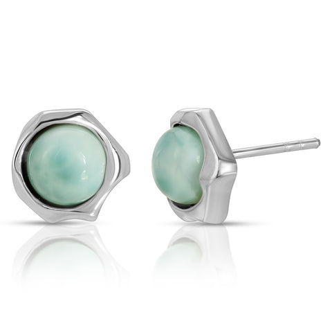 Abstract Larimar Earrings