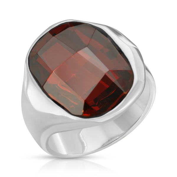 The W Brothers Premium Grade A 925 Sterling Silver Inferno Ring. The Inferno Ring fashions an ever-shining fiery red Swarovski crystal, perfect for a fashionable statement for men and women's jewelry accessory. Available at www.thewbros.com
