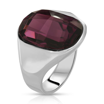 The W Brothers 925 Sterling Silver Void Swarovski Ring