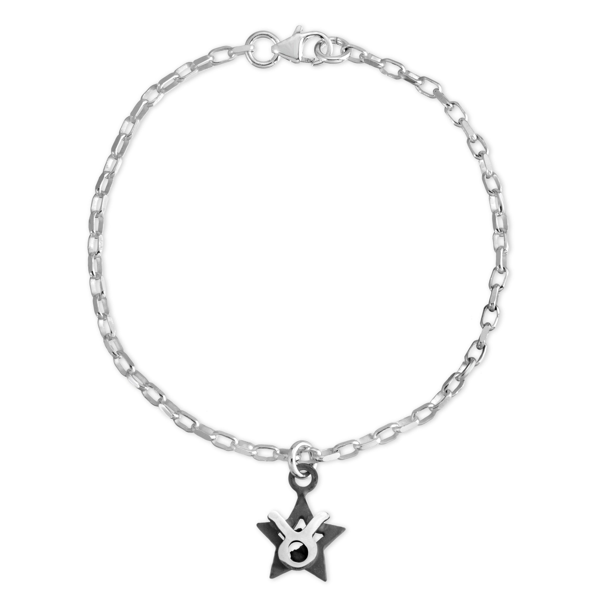 The W Brothers Sterling silver zodiac horoscope Taurus charm bracelet crafted to perfection in premium 925 Sterling silver, available in silver, real 18k gold or rose gold layering. Shop your star-signs at thewbros.com