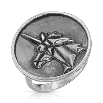 The W Brothers 925 Sterling Silver Geometric Unicorn Ring