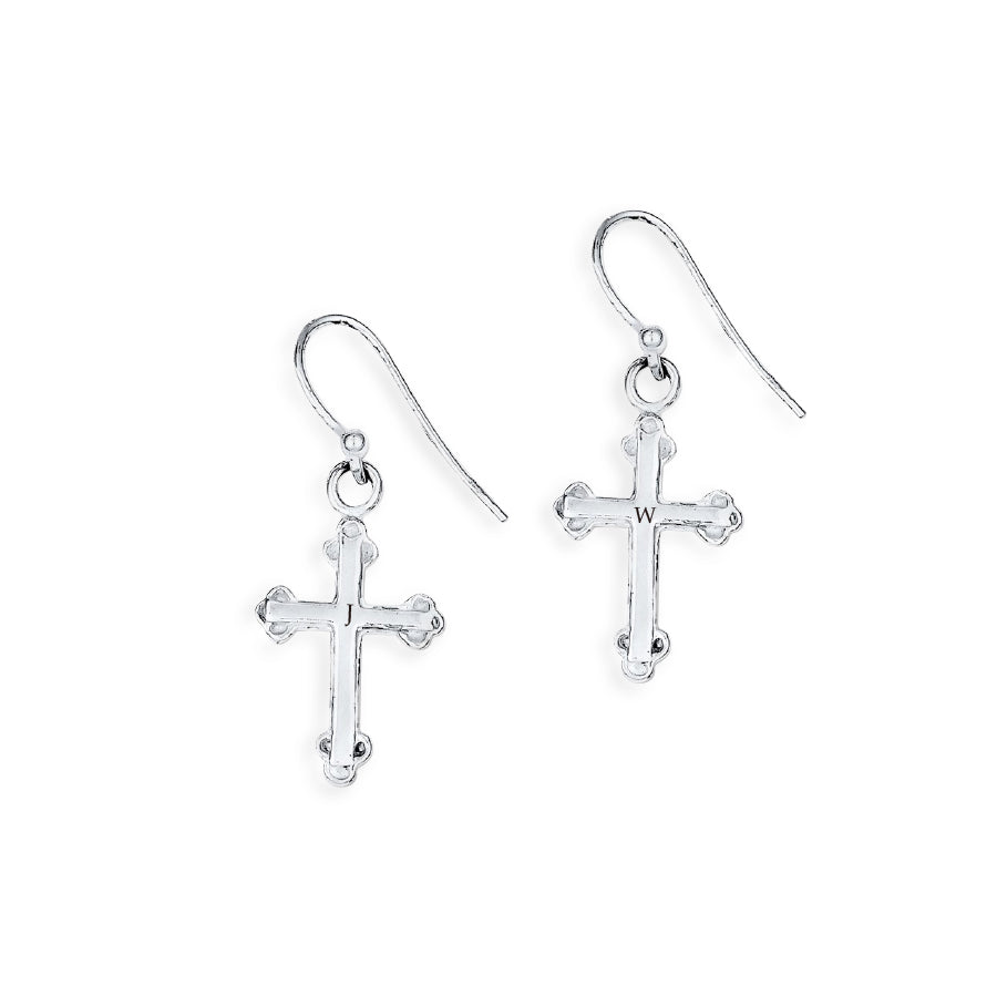 Custom Cross Earrings - The W Brothers