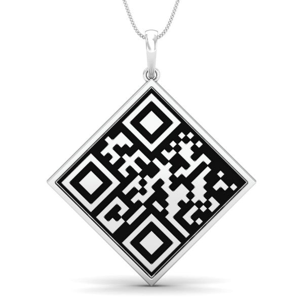 Custom QR Code Necklace