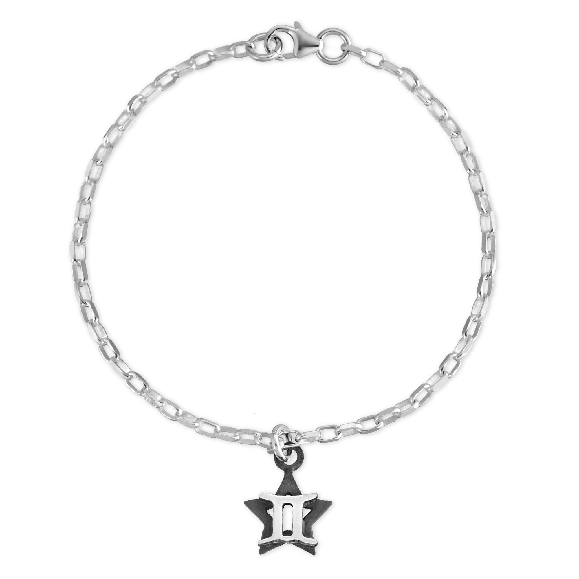 The W Brothers Sterling silver zodiac horoscope Gemini charm bracelet crafted to perfection in premium 925 Sterling silver, available in silver, real 18k gold or rose gold layering. Shop your star-signs at thewbros.com