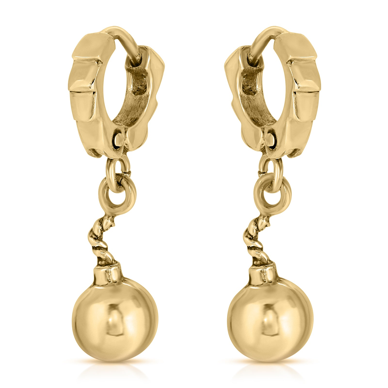 The W Brothers Premium Grade A 925 Sterling Silver Bomb Cuff Earrings, perfect for a fashionable statement for men and women's jewelry accessory. Available in silver, gold, rose gold, black nickel at www.thewbros.com