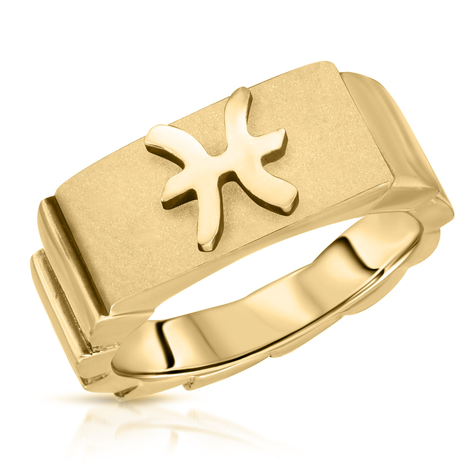 The W Brothers Premium Grade A 925 Sterling Silver Pisces Horoscope Zodiac Ring, perfect for a fashionable statement for men and women's jewelry accessory. Available in silver, gold, rose gold at www.thewbros.com.
