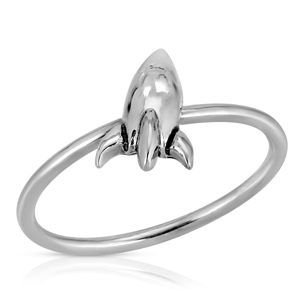Rocket Ring - Area 51 Collection The W Brothers, space collection, the w bros space collection rocket ship ring, 925 sterling silver premium A Grade silver, space rocket stackable ring, fine silver, NASA space rocket ship Area 51 ring