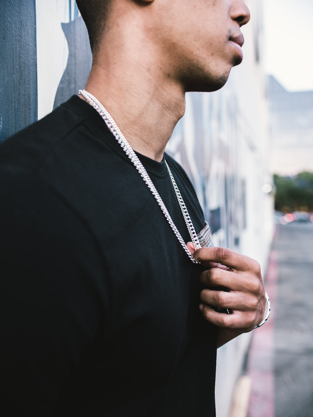 The W Brothers Premium Grade A 925 Sterling Silver S-Link Cuban chain fits all styles for men and women streetwear modern fashion chains. This look is perfect with any pendant or on its own. Sterling Silver Cuban Chain 24""