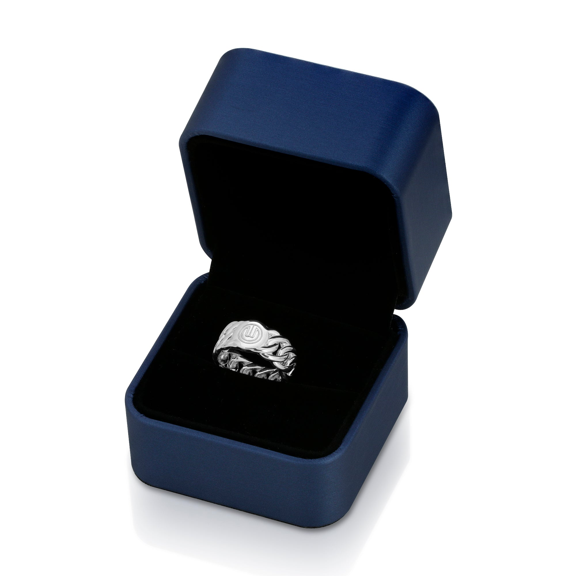 The W Brothers 925 Sterling Silver Cuban Ring crafted in the highest quality of 925 Sterling Silver for men and women fashion accessories. Elegant modern icy look for the lowest price. Shop your look only at thewbros.com