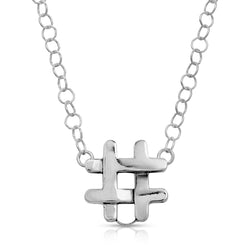 The W brothers Hashtag Pendant Necklace # featuring our handcrafted Hashtag pendant, designed from premium Grade A 925 Sterling Silver, perfect for a fashionable & cute look for men and women. Available at www.thewbros.com