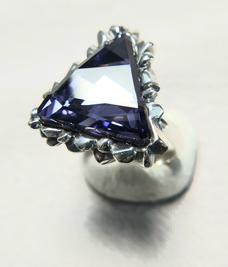 Trinity Dark Sapphire Swarovski Ring - The W Brothers