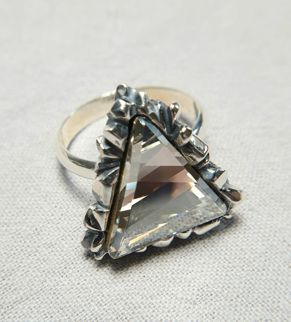 Trinity White Swarovski Ring - The W Brothers