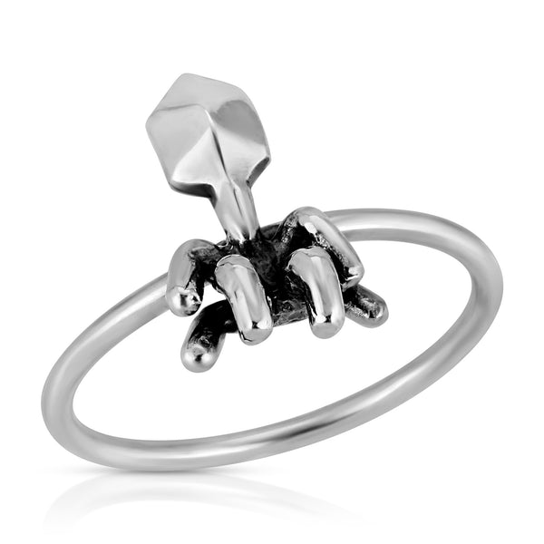 The W brothers Germ Collection featuring our handcrafted Virus Ring, designed from premium Grade A 925 Sterling Silver, perfect for a fashionable & cute look for men and women. Available at www.thewbros.com