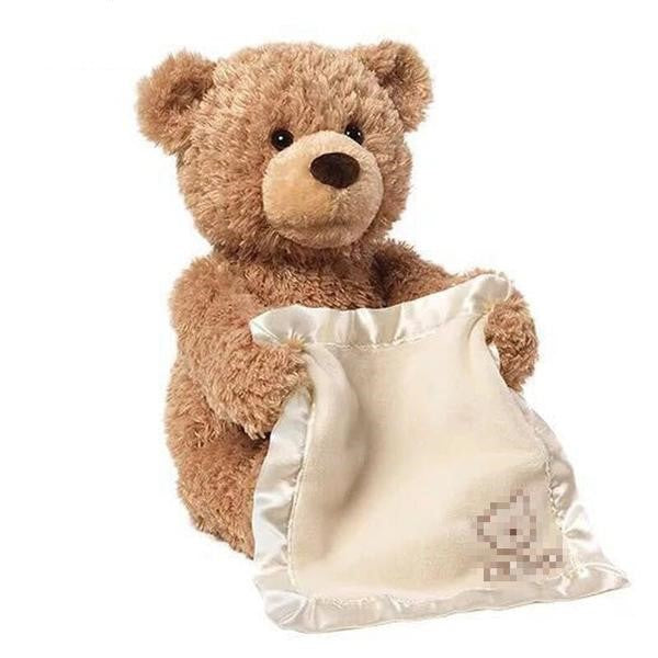 The Peek-A-Boo Teddy Bear - Plays Peak-A-Boo With Your Baby!
