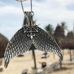 "Mystical Mermaid Pendant - Antique Silver ""Whale Tail"" Choker"