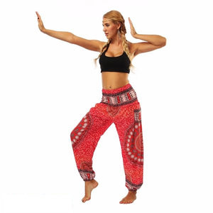 Red Mandala High Rise Leggings
