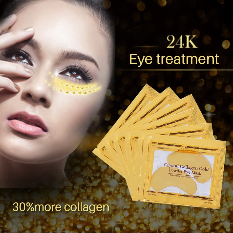 24k Gold Crystal Collagen Eye Mask