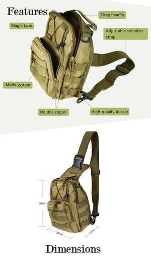 Tactical Military Shoulder Sling Backpack