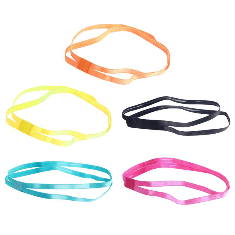 Yoga Fitness Sport Double Hair Bands - Ultra-Thin & Anti-Slip