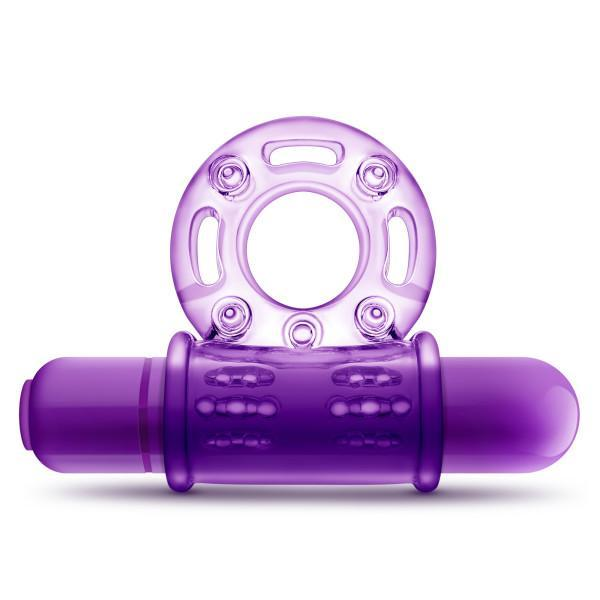Couples Play Vibrating Cock Ring Purple