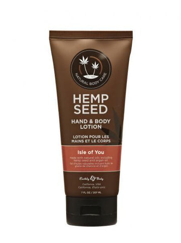 Earthly Body Hemp Hand & Body Lotion Velvet Isle Of You 7oz