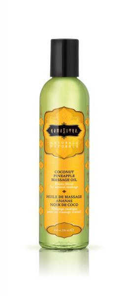 Naturals Massage Oil Coconut Pineapple 8oz