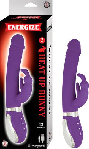 Energize Heat Up Bunny 2 Rabbit Vibrator Purple