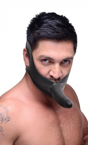 Face Fuk Strap On Mouth Gag Black