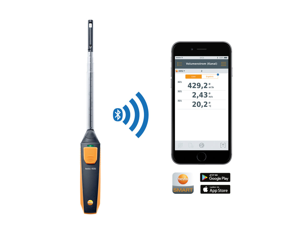 testo 405 i  - Thermo-Anemometer mit Smartphone-Bedienung