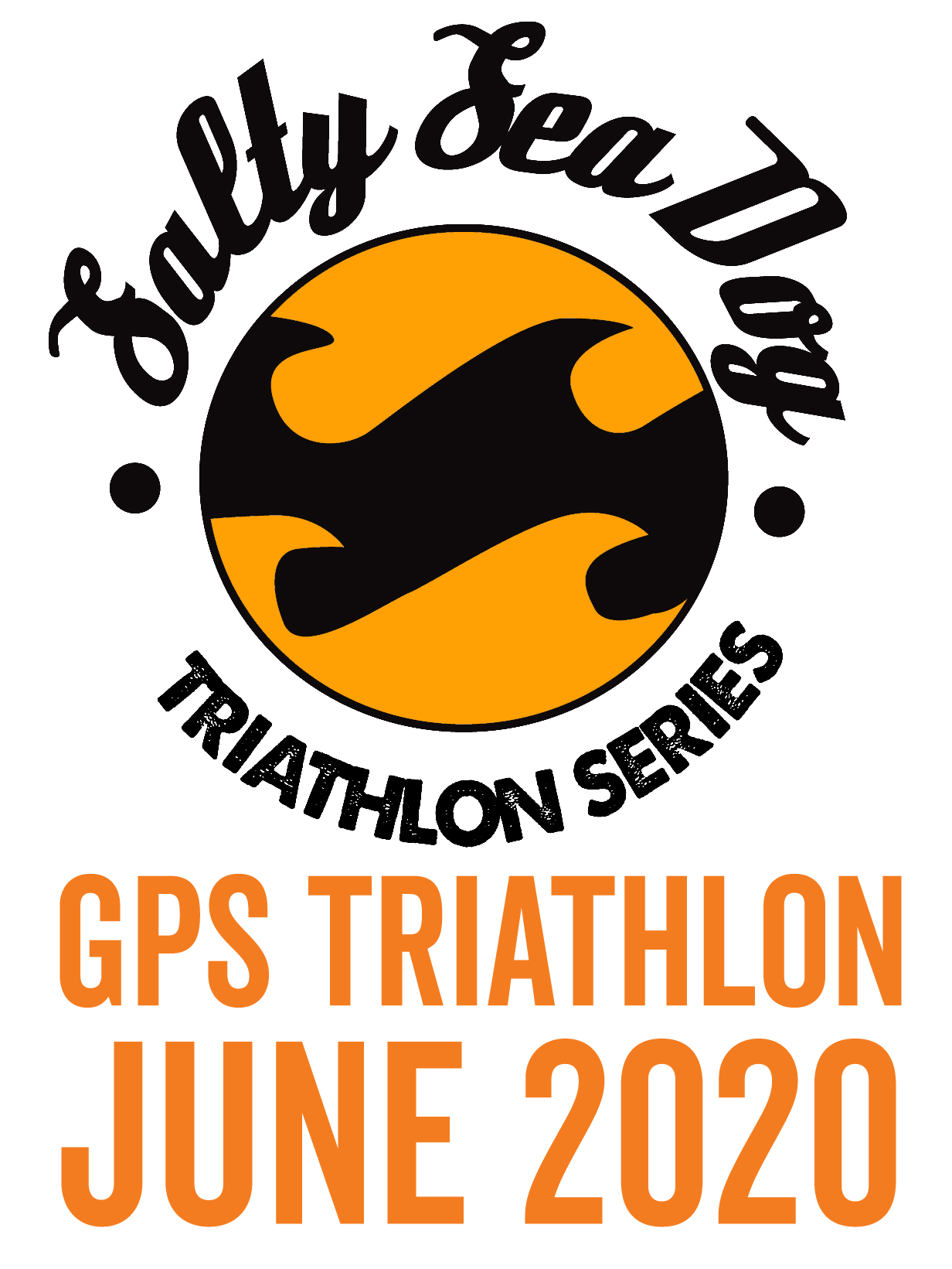 Salty Sea Dog GPS Triathlon. June 2020. Tracker and swim tow float hire.