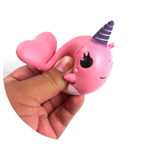 Pink Narwhal Squishy