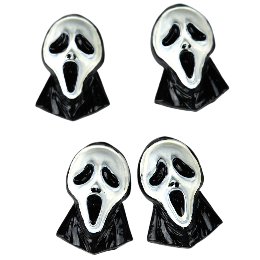 4 Scream Mask Charms