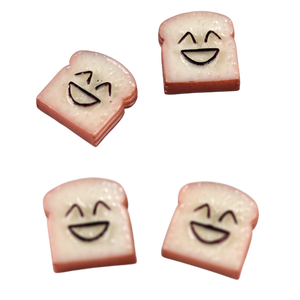 4 Smiley Bread Charms