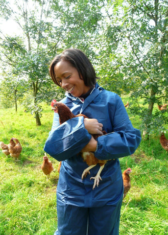 With chickens in Cumbria, for BBC Countryfile