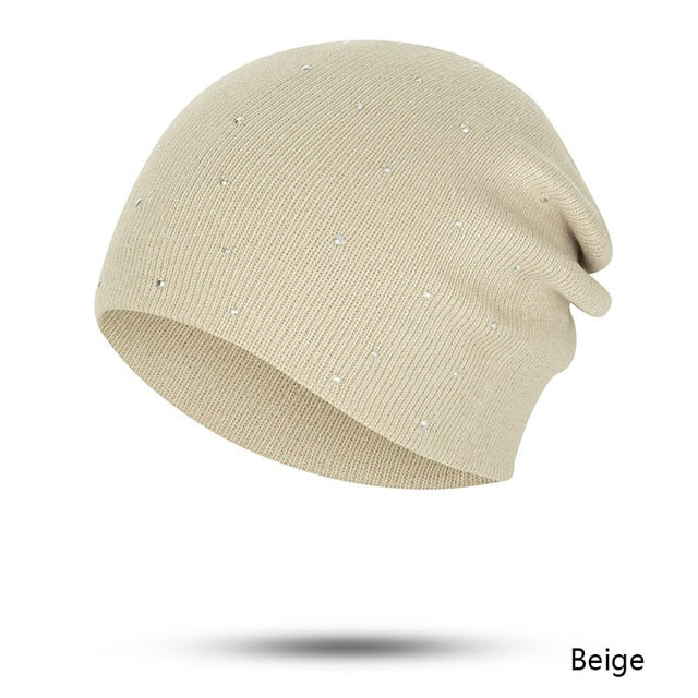 Cotton Pearl Solid Color Knitted Bonnet