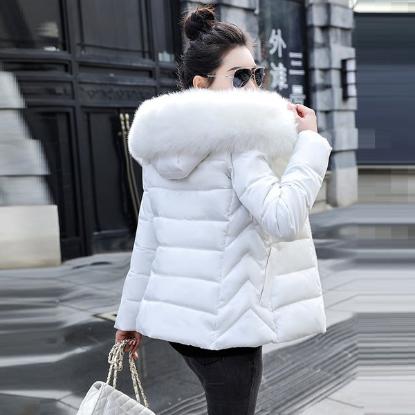 Big Fur Hooded Down Parkas Sizes S-5XL