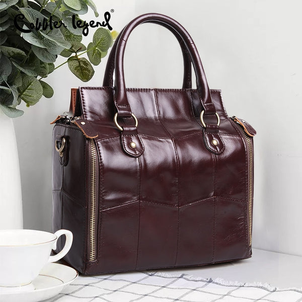 Multifunction Large Soft Handbag Genuine Leather