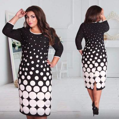 Black and White Circles Dress