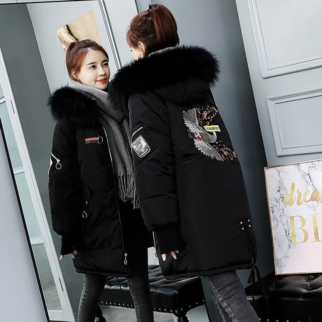 Long Cotton Thicken Winter Jacket