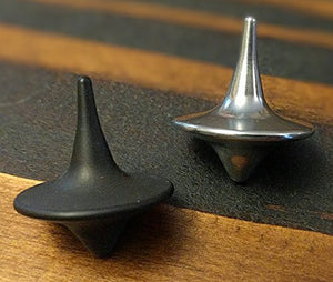 ShadowSpin Dark Precision Machined Spinning Top 303 Stainless Steel