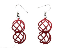 Load image into Gallery viewer, 3D Printed Jewelry Spiral Sphere Linked Earrings