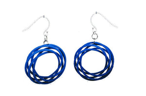 3D Printed Jewelry Looped Spiral Earrings