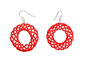 3D Printed Jewelry Spiral Torus Earrings