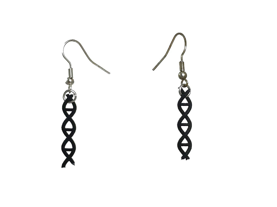 3D Printed Jewelry DNA Strand Earrings