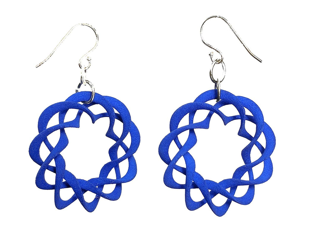 3D Printed Jewelry Nuclear Twist Ring Earrings