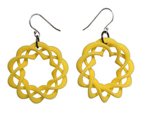 Load image into Gallery viewer, 3D Printed Jewelry Nuclear Twist Ring Earrings