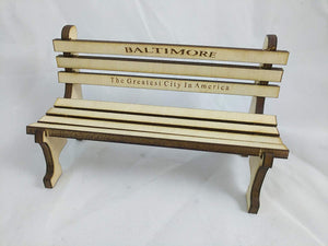 Baltimore Bench Kit - The greatest gift in America!  Miniature Wooden Replica