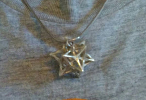 Softened Stellated Dodecahedron Necklace
